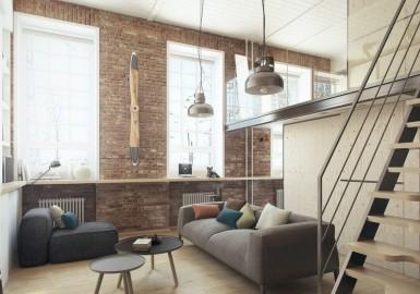 锦州复古工业风格设计:50平米LOFT装饰出100平米的效果