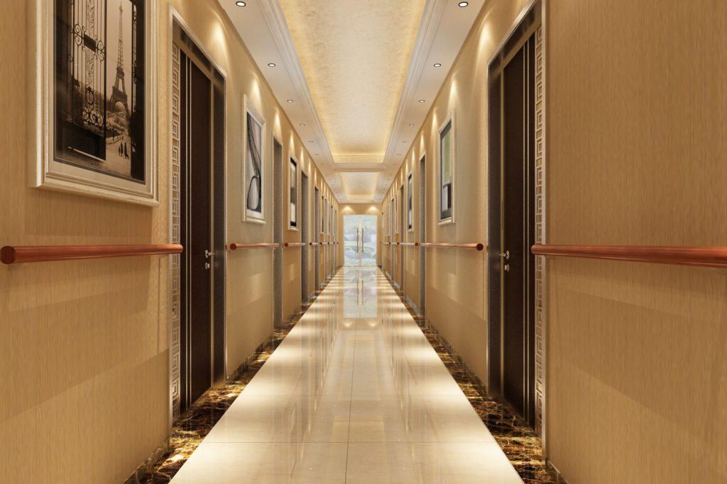 养老地产项目室内走廊设计要点-锦州装修公司【中古空间】锦州别墅庭院设计 | 辽宁中古养老院规划设计研究所